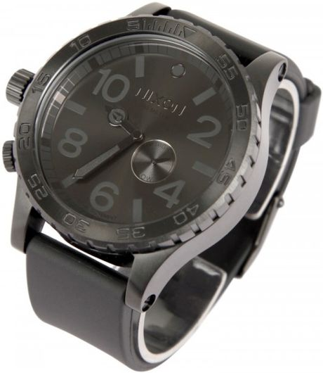 Nixon 51-30 Tide Pu Watch in Black for Men - Lyst