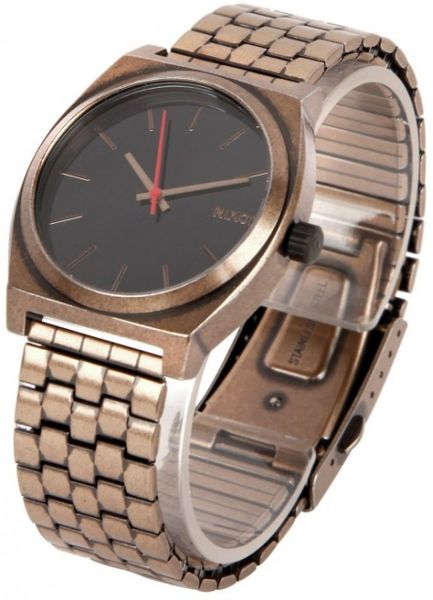 Nixon Time Teller Watch in Gold for Men (black)