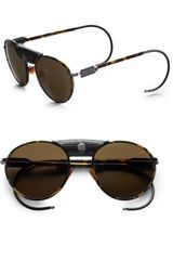 Proenza Schouler Metal Aviator Sunglasses in Brown (lighttortoise) - Lyst