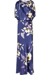 Temperley London Rosine Printed Silk Gown - Lyst