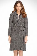 Tory Burch Alice Dash Tweed Coat - Lyst