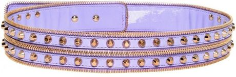 Versace 4cm Studded Smooth Leather Belt in Purple (lilac) - Lyst