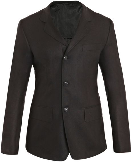 Alexander Mcqueen SilkCanvas Jacket in Black for Men - Lyst