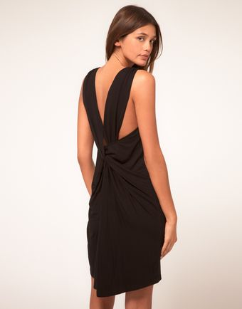 ASOS Collection Asos Vest Dress with Drape Back - Lyst