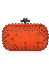 Bottega Veneta Studded Intrecciato Leather Knot Clutch