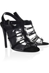 Bottega Veneta Spritza Suede and Pvc Sandals