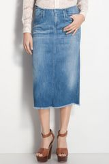 Citizens Of Humanity Tangier Cutoff Denim Midi Skirt - Lyst