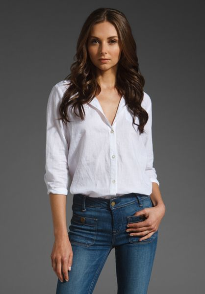 Elizabeth And James New Cohen Shirt in White - Lyst