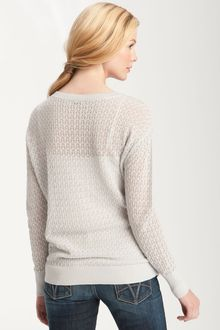 Halogen Textured Long Sleeve Sweater - Lyst