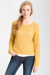 Halogen Long Sleeve Textured Sweater - Lyst