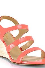 Kate Spade Cindy - Hot Coral Stacked Wedge Sandal - Lyst