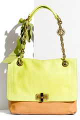 Lanvin Happy Two Tone Flap Shoulder Bag in Yellow (multicolor) - Lyst