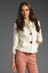 Milly Rena Jacket in Beige (ivory) - Lyst