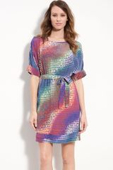 Presley Skye Print Silk Crêpe De Chine Dress - Lyst