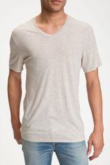 Vince Short Sleeve V-neck T-shirt - Lyst