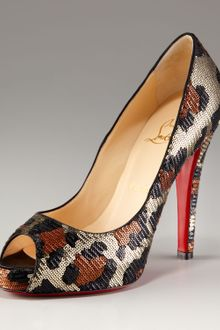 Christian Louboutin Very Prive Leopard-sequined Pump - Lyst