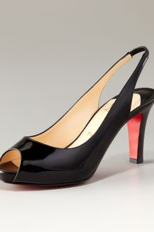 Christian Louboutin Prive Patent Leather Open-toe Platform Pump - Lyst