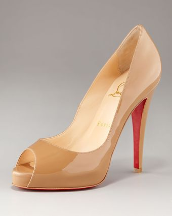 Christian Louboutin Very Prive Patent Open-toe Platform Pump - Lyst