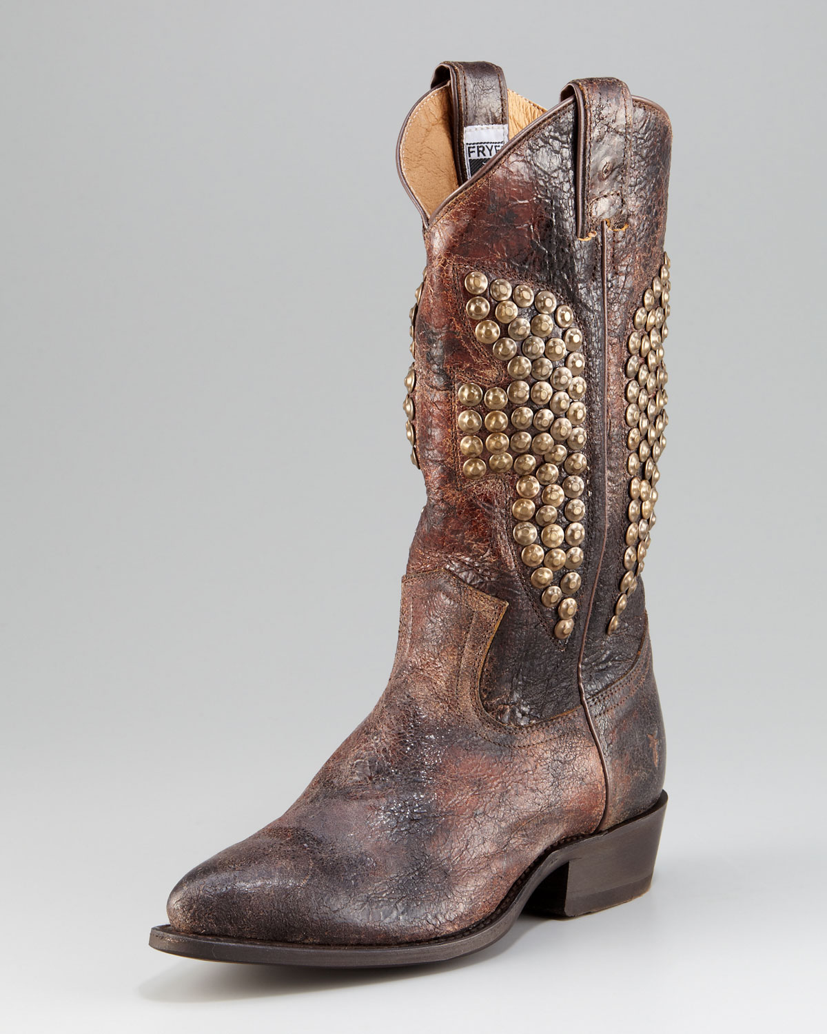 9f0f8fe3692 Lyst - Frye Billy Studded Cowboy Boot in Brown
