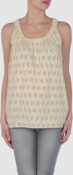 Marni Top in Beige (ivory) - Lyst