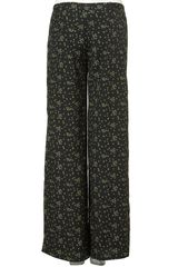 Topshop Ditsy Floral Wide Leg Trousers in Black - Lyst