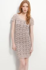 Trouvé Fan Stitch Crochet Sheath Dress - Lyst