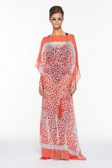 Diane Von Furstenberg Aaliyah Printed Dress in Animal (spot leopard trail red) - Lyst