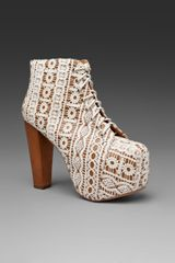 Jeffrey Campbell Lita in Brown (beige lace tan) - Lyst