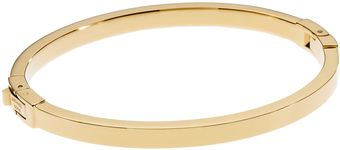 Michael Kors Golden Skinny Hinge Bangle - Lyst