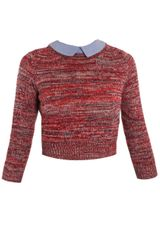 Carven Melange-knit Sweater - Lyst