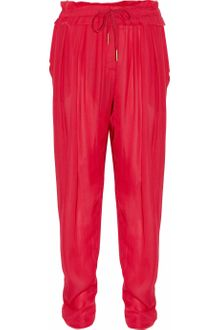 Isabel Marant Fidji Washed-georgette Drawstring Pants - Lyst
