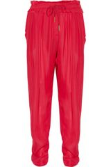 Isabel Marant Fidji Washed-georgette Drawstring Pants