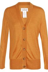 Maison Martin Margiela Fine SilkKnit Cardigan in Orange - Lyst