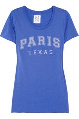Zoe Karssen Paris Texas Cotton and Modal-blend T-shirt - Lyst