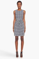 3.1 Phillip Lim Navy Leopard Wrap Dress - Lyst