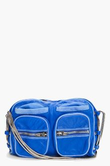 Alexander Wang Blue Brenda Zip Chain Bag - Lyst