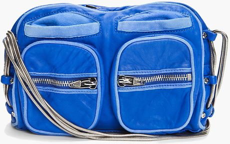Alexander Wang Blue Brenda Zip Chain Bag in Blue - Lyst