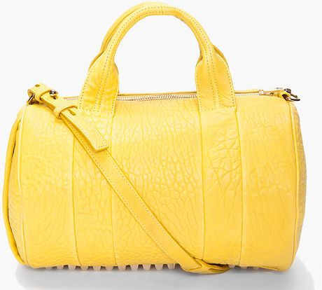 Alexander Wang Rocco Mini Duffle in Yellow (citrus) - Lyst