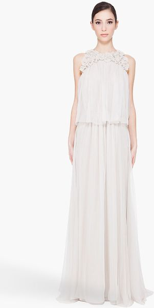 Chloé Silk Flower Gown - Lyst