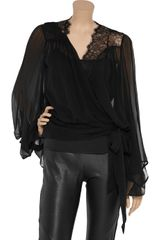 Foley + Corinna Lace Silk-chiffon Blouse - Lyst