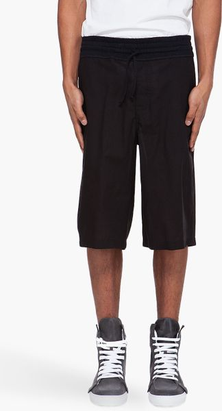 Kris Van Assche Black Oversize Shorts in Black for Men - Lyst