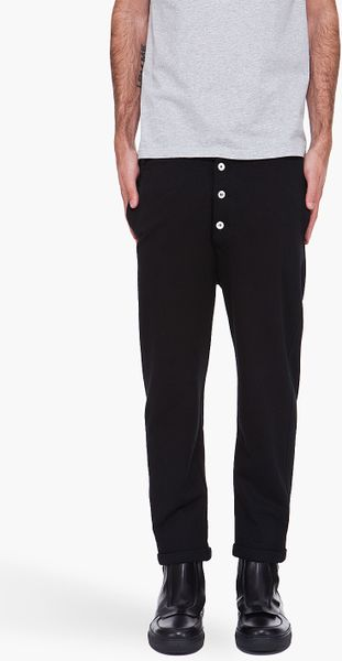 Kris Van Assche Three Quarter Pants in Black for Men - Lyst