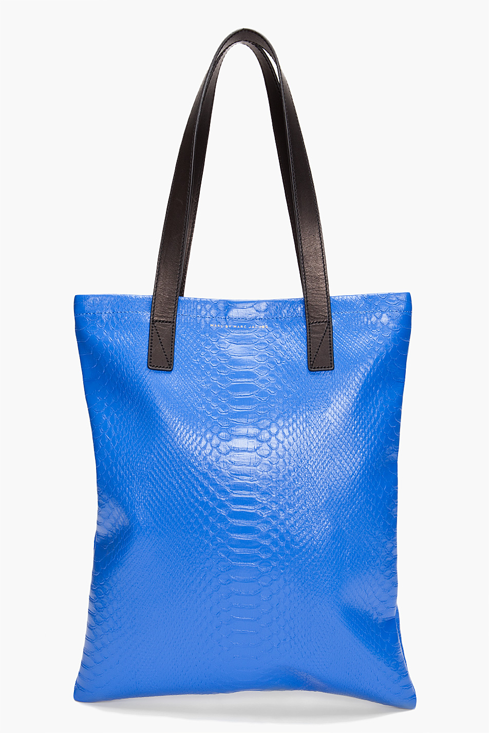marc by marc nifty gifty python laptop bag in blue