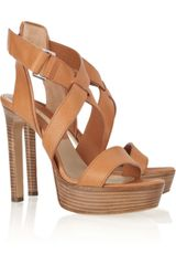 Michael Kors Platform Leather Sandals - Lyst