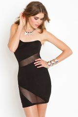 Nasty Gal Slasher Mesh Dress in Black - Lyst