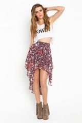 Nasty Gal Posy Tail Skirt - Lyst