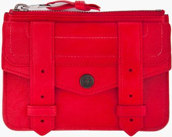 Proenza Schouler Ps1 Small Red Zip Wallet - Lyst