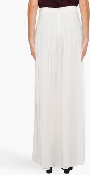 Rag & Bone Silk Maxi Pants in White - Lyst