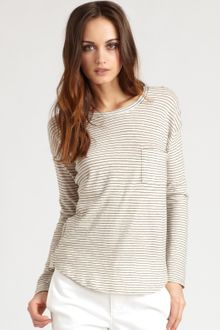 Vince Fisherman Striped Cotton Tee - Lyst