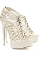 Alexander McQueen Braided Multi-strap Leather Sandals - Lyst